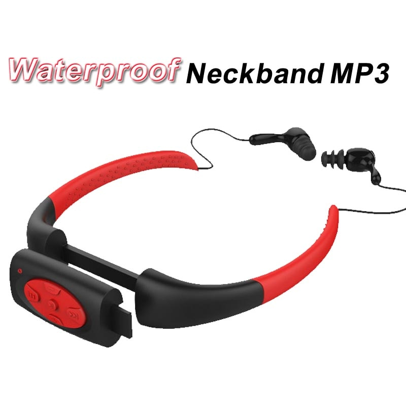IPX8 MP3 Music Player Swimming Underwater Sports Neckband Diving with