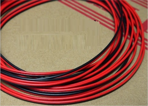 PVC Insulated Tinned Copper Cable 2 Pin Red Black Wires UL2468 - 5/10