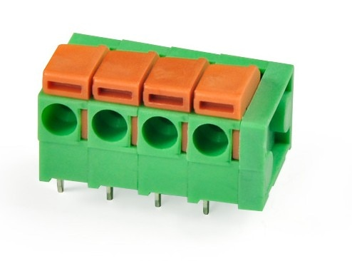 1pole  green connector spring terminal block DG142R right angle screw