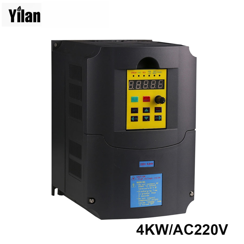!!!!!CE 220v 4kw 1 phase input and 220v 3 phase output frequency conve