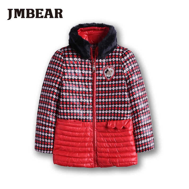 down coat kids winter jacket Faux Fur Fleece outwear padded coat girls
