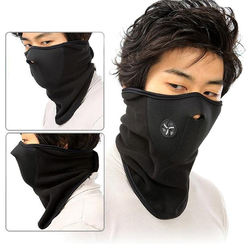 Cycling Motorcycle Fleece Half Face Mask Winter Hood Cap Headwear Ther