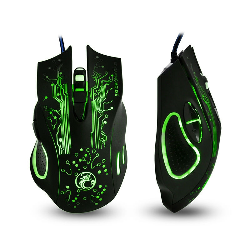 ESTONE X9 5000DPI LED Optical 6D USB Wired game Gaming Mouse gamer Fo