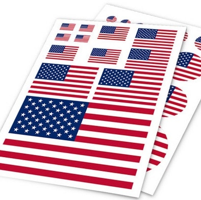 Flag car sticker motorcycle skateboard bike decal phone sticker