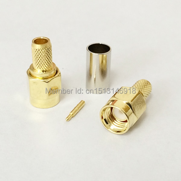 Male Plug  RF Coax Connector Crimp for RG142,RG400,LMR195, RG58 Cable