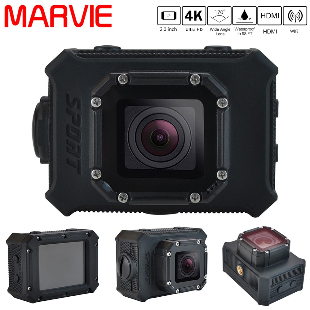 Action Camera Digital Camera FHD 4K WiFi 1080P 60FPS Wide angle Sport