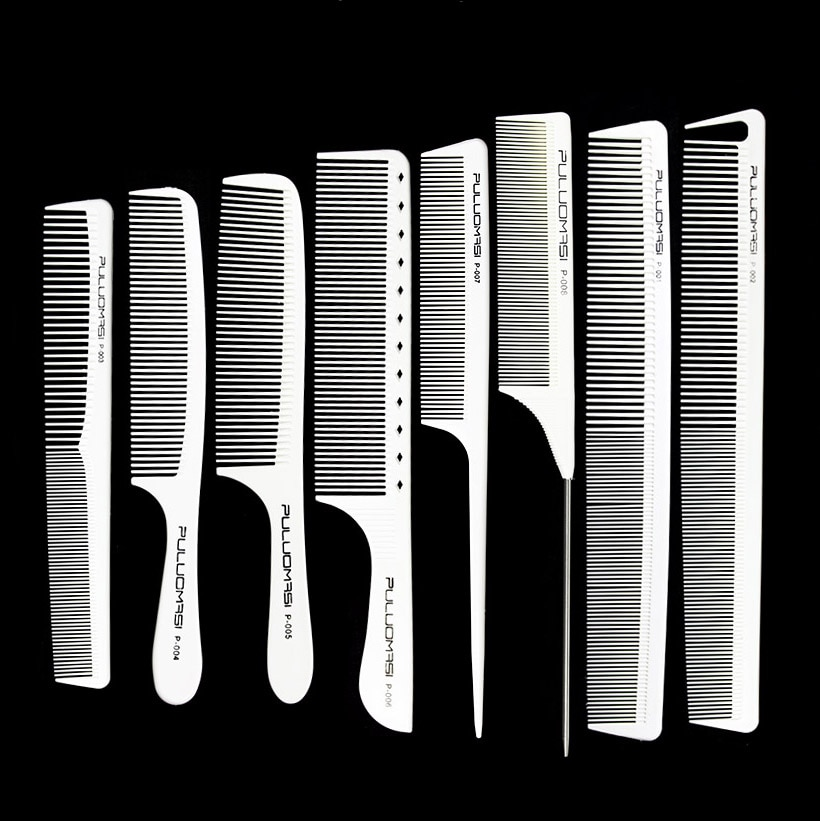 Professional hair clippers , trimmers, combs Comb hair   White Color