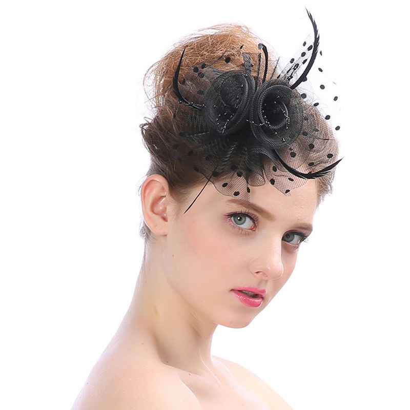 Handmade Stretch Net Bridal Headdress Creative Flower Banquet Hair Accessories