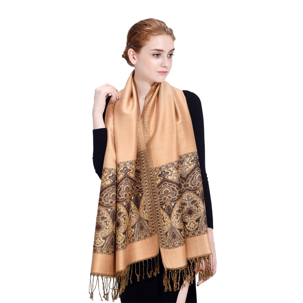 LYZA Women Classic Oversize Soft Scarves Winter Warm Jacquard Shawl Tassel Scarf