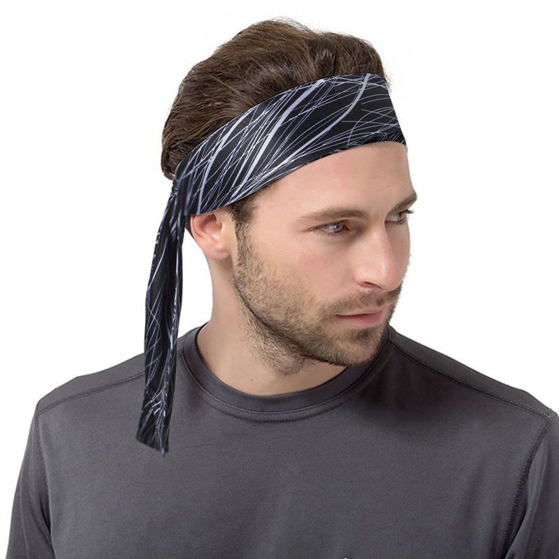 COTEO Polyester Sports Sweat-Absorbent Headband Adjustable Quick-Drying Flexible Running Head Band