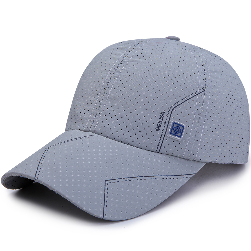 Men Summer Breathable Quick-Drying Baseball Cap Sunshade Sun Protection Hat Visor