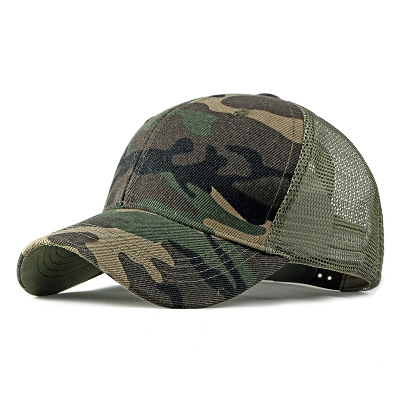 Outdoor Simple Camouflage Military Tactical Baseball Cap Men's Casual Breathable Net Cap