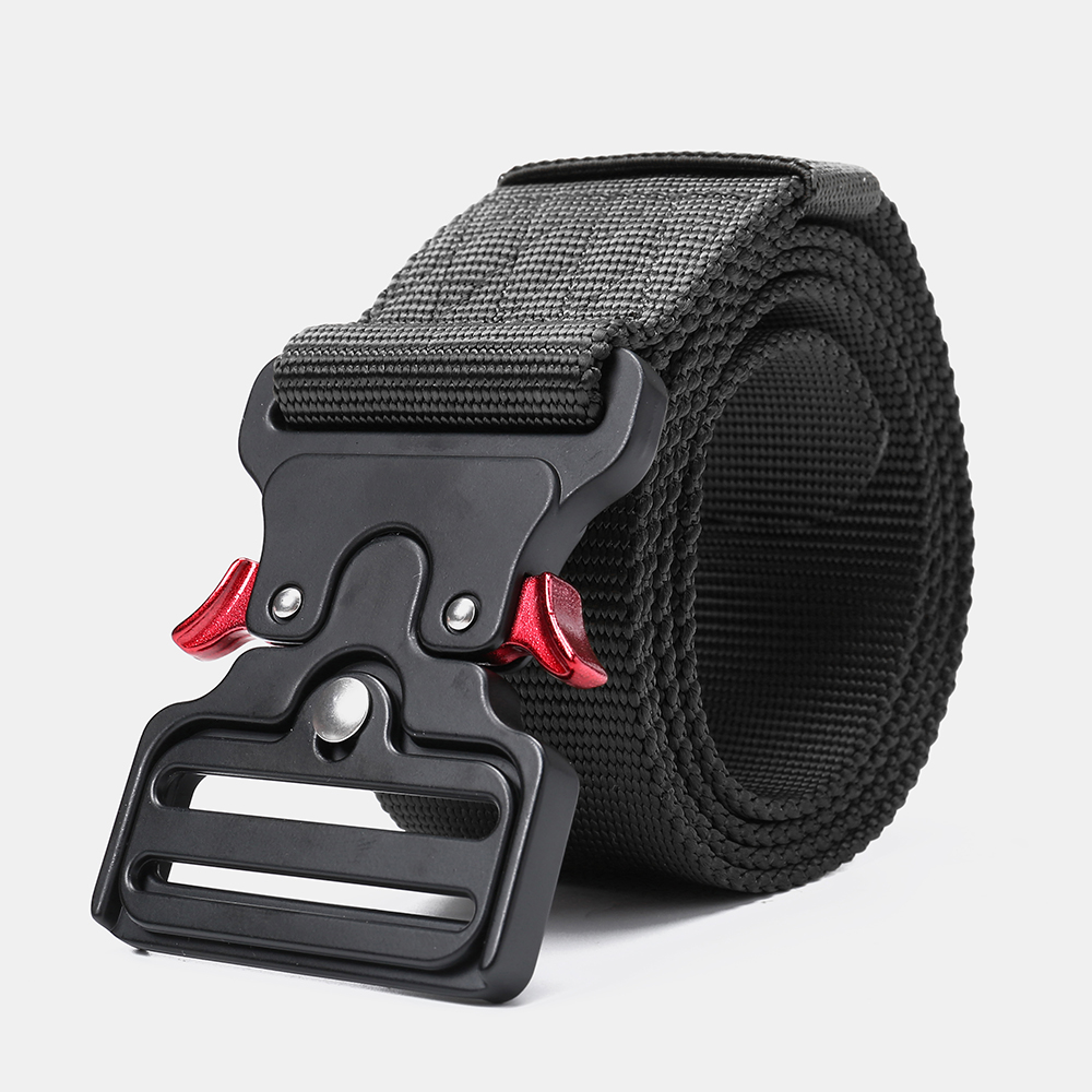 125cm 4.8cm Nylon Waist Leisure Belts Zinc Alloy Tactical Belt Quick Release Inserting Buckle