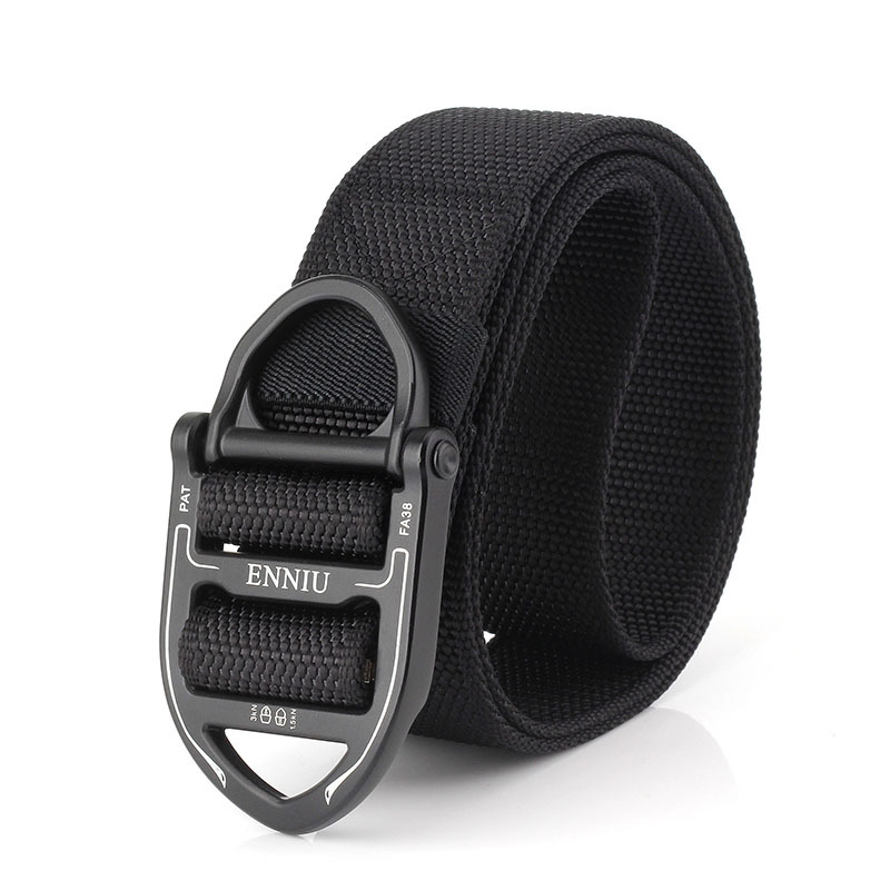 125CM ENNIU Nylon Tactical Belt with Ring Buckle Outdoor Multi-Functional Waist Belt