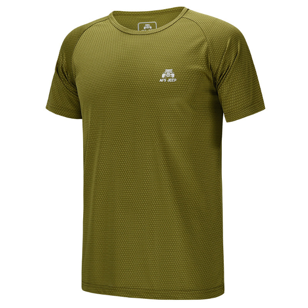 Plus Size Mens Outdoors Sport Tops Quick Drying Running Short Sleeve T-shirts