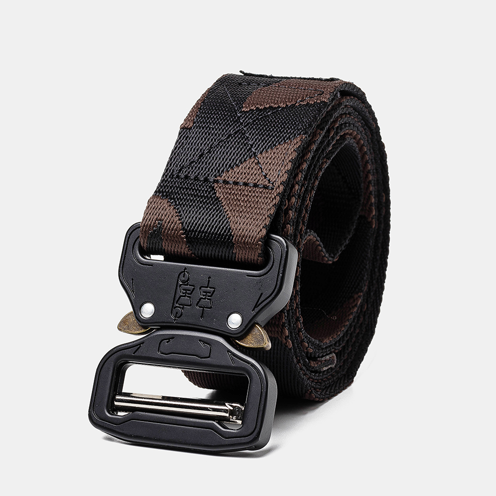 160cm Nylon Waist Leisure Belts Zinc Alloy Tactical Belt Quick Release Inserting Buckle