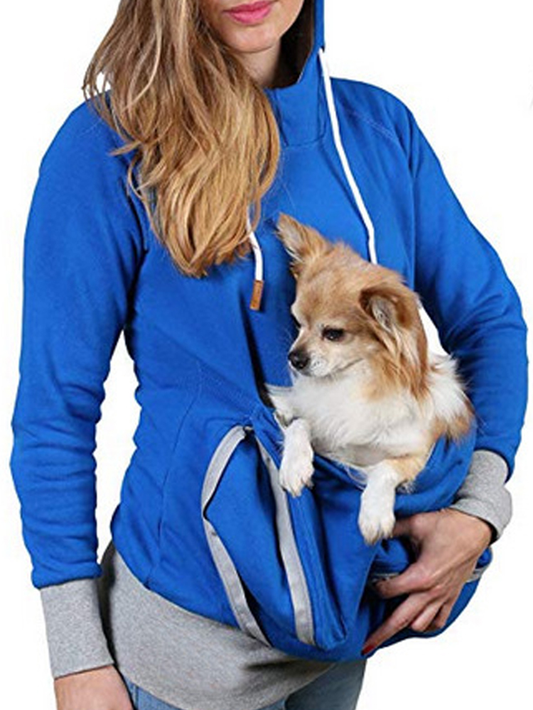 3 In 1 Jacket Multifunctional Kangaroo Zipper Hoodie Sweatshirt