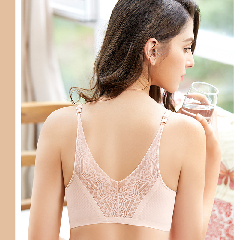 Lace Floral Jacquard V Type Seamless Breathable Yoga Bra