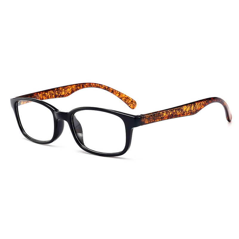 HD Resin Fashion Pattern Reading Eyeglasses Full Frame Computer Presbyopic Glasses