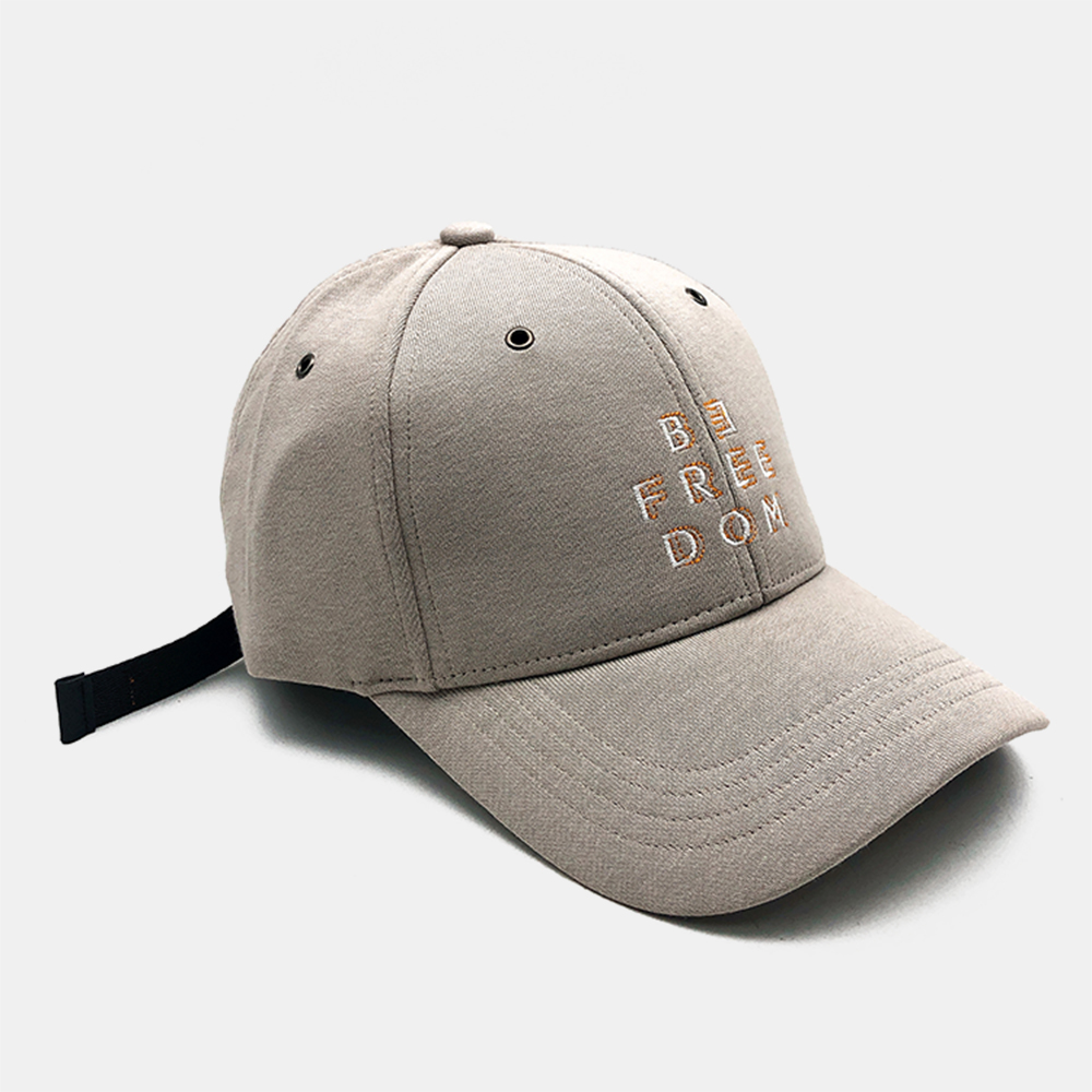Cotton Baseball Cap Letters Embroidered With Holes Breathable
