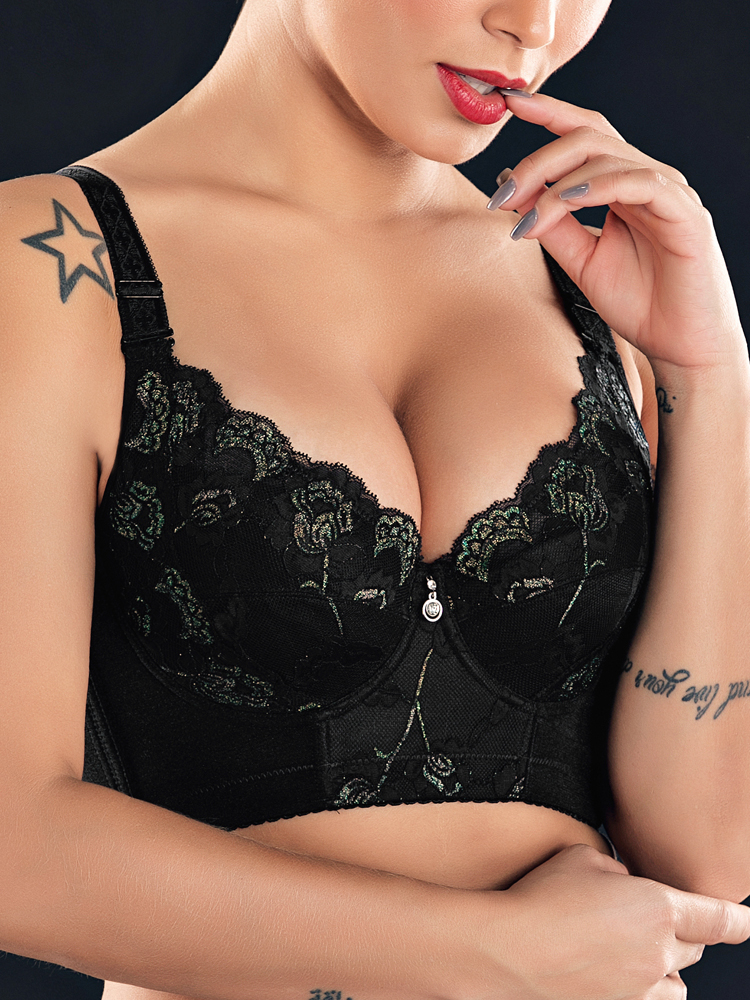 J-Cup Underwire Push Up Lace Thin Bra