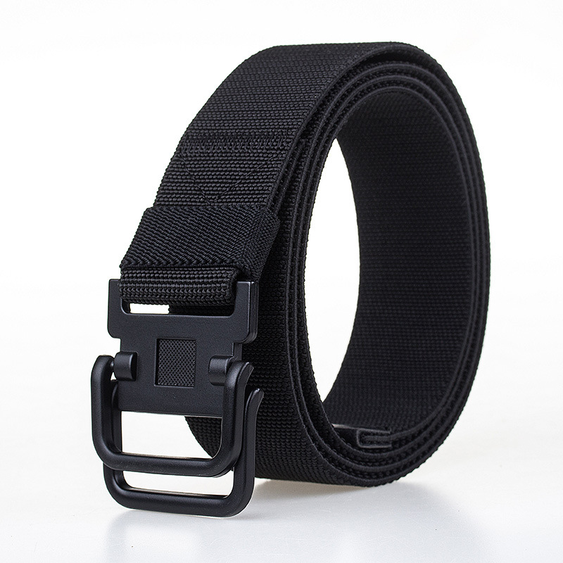 Men Plate Buckle Canvas Belt Sport Durable Pants Strip Outdoor Wild Casual Belt