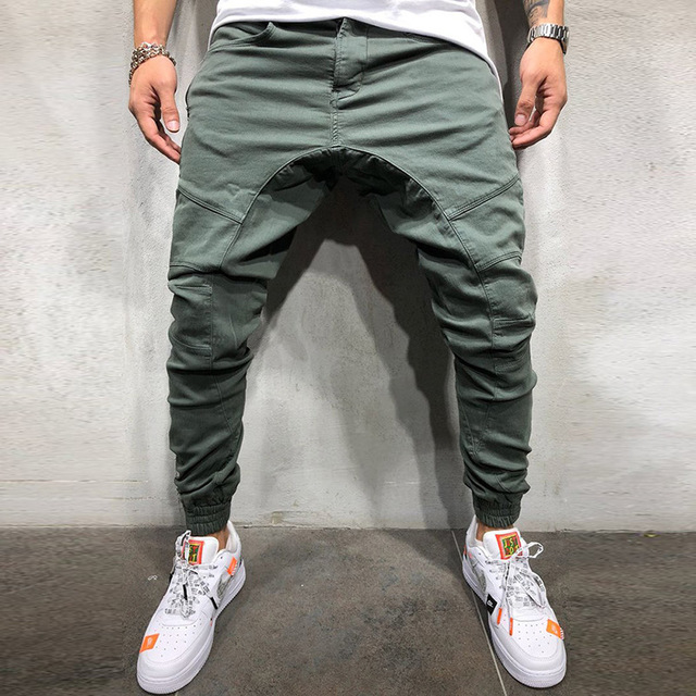 Best Selling Hip Hop Side Zipper Trousers Men's Woven Fabric Casual Pants Trousers Men's Trousers