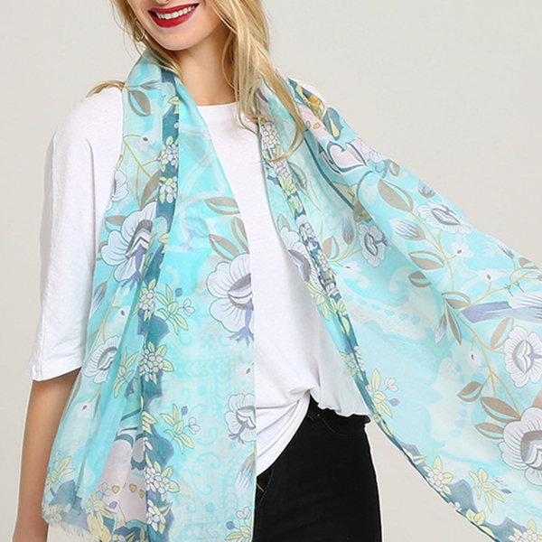 Laides Vogue Summer Cotton Graffiti Printting Scarf Outdoor Plus Size Shawl for Women
