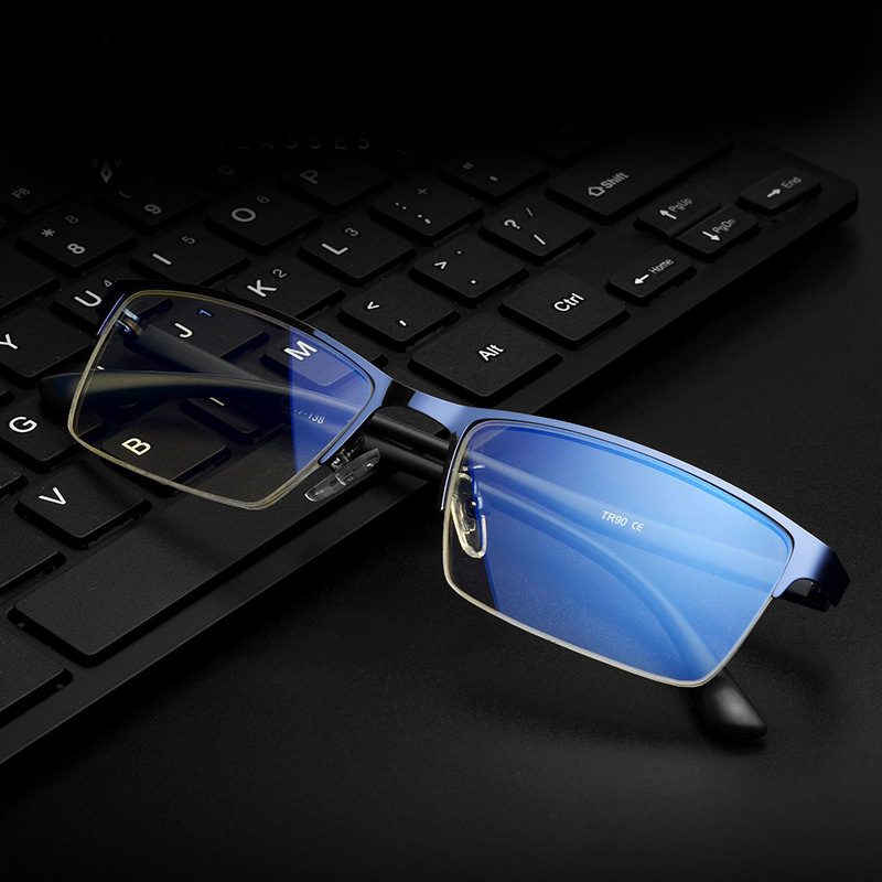 High Definition Blue Light Blocking Computer Glasses Business Anti Glare Glasses