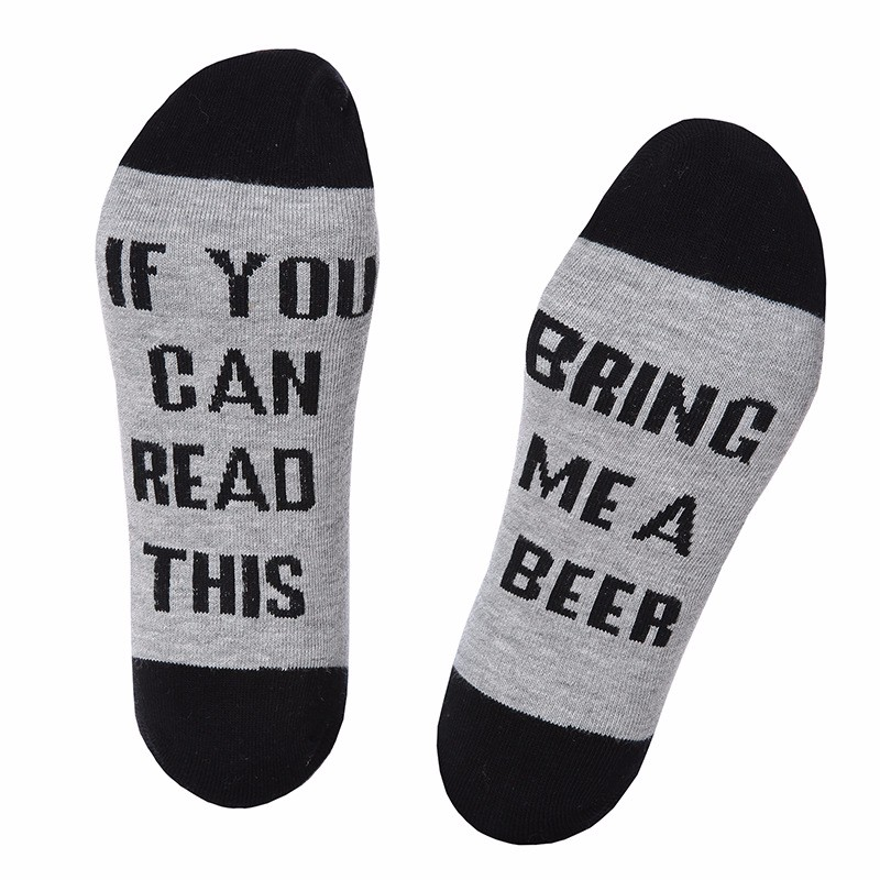 IF YOU CAN READ THIS Socks Funny White In Tube Sock Words Printed Socks
